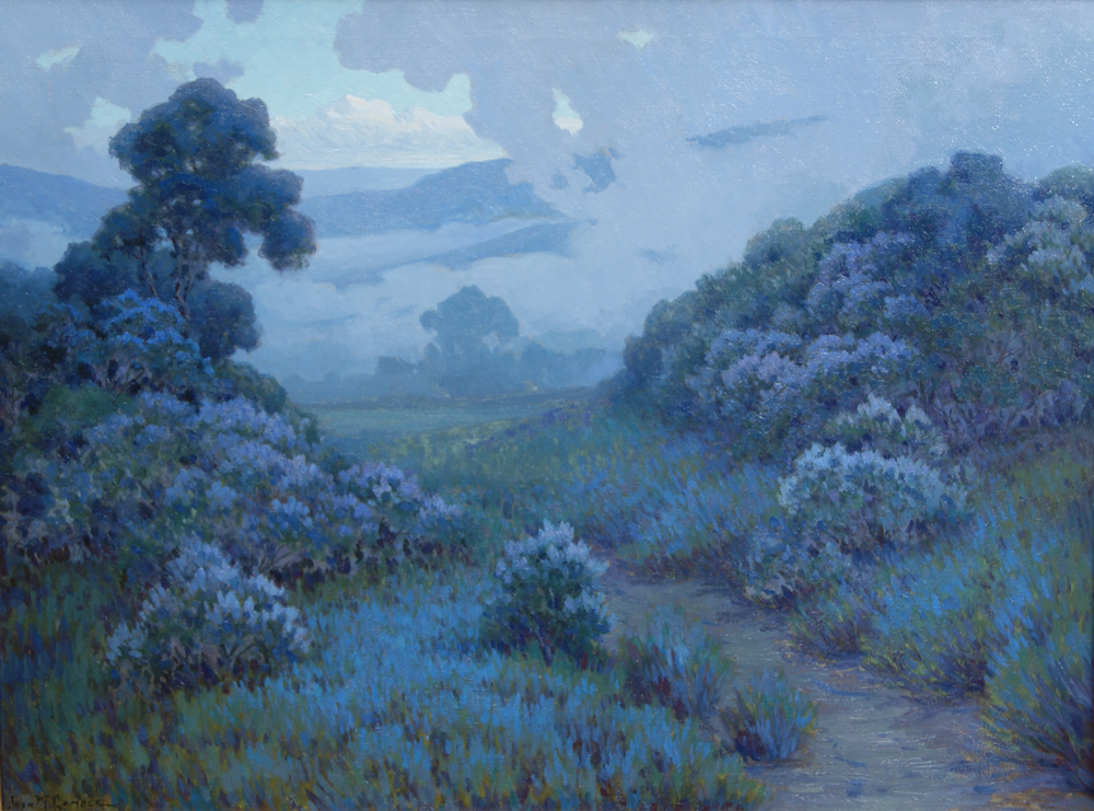 "JOHN MARSHALL GAMBLE - LANDSCAPE WITH LUPINE - Oil on Canvas - 30"" x 40"""