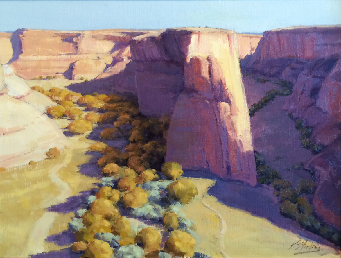"KATE STARLING - ""Navajo Fortress"" - Oil on Canvas - 18"" x 24"""