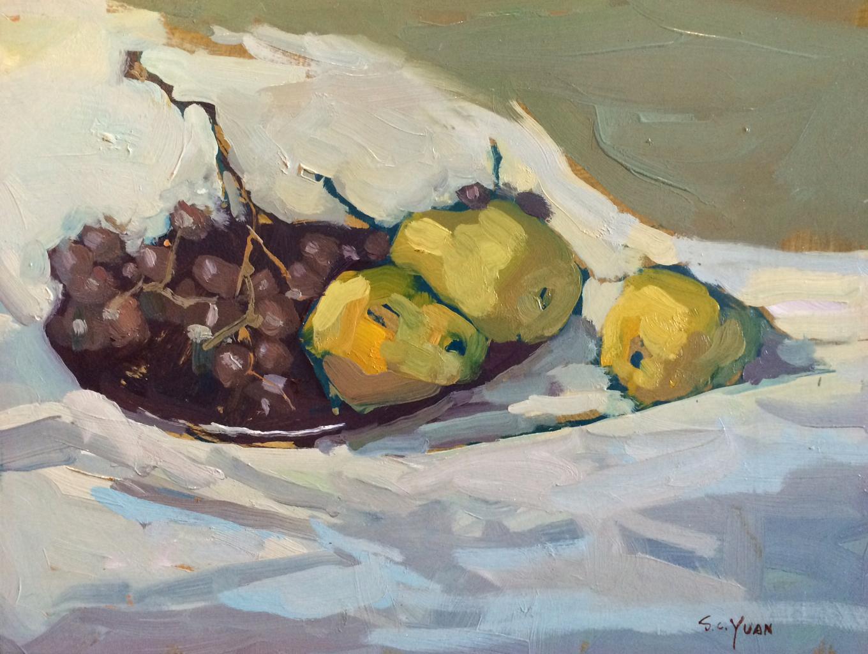 Pears and Grapes | S C  YUAN | Del Monte Fine Art | Del Monte Fine Art