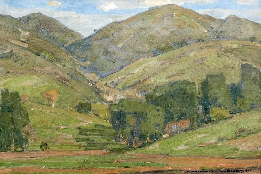 "WILLIAM WENDT - Laguna Hills - Oil on Canvas - 10 1/4"" x 15 1/4"""