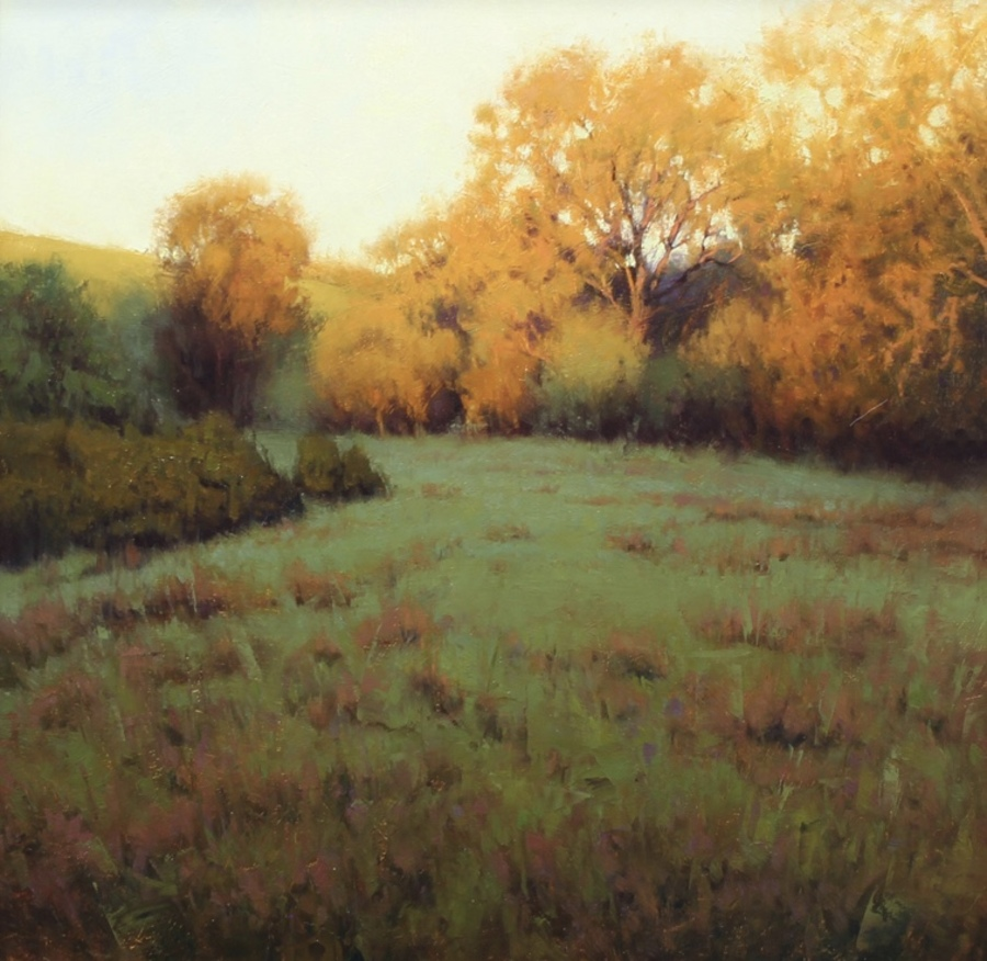 "KEVIN COURTER - ""Morning Glory"" - Oil - 16"" x 16"""