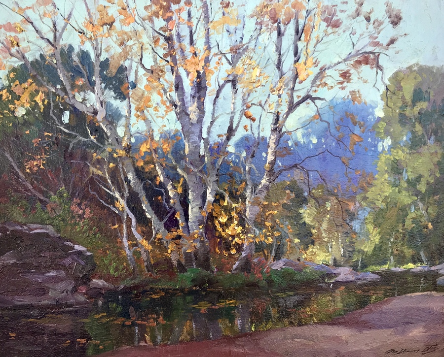 "GEORGE DEMONT OTIS - ""Autumn, Lagunitas"" - Oil - 24"" x 30"""