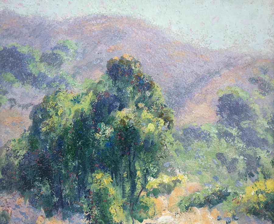 "WILLIAM HENRY CLAPP - ""Los Padres"" - Oil - 8"" x 9"""