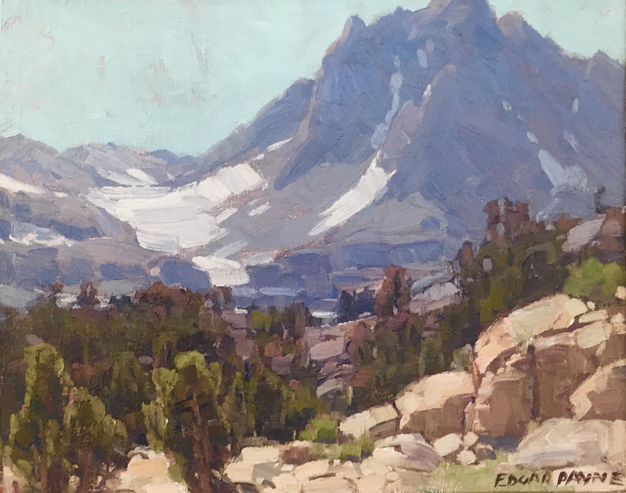 "EDGAR ALWIN PAYNE - ""Big Pine Peaks, Inyo County California"" - Oil - 16"" x 20"""