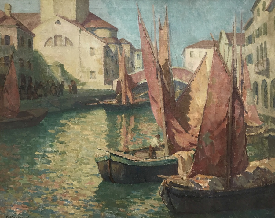"MISCHA ASKENAZY - ""Chioggia, Italy"" - Oil on Canvas - 32"" x 40"""