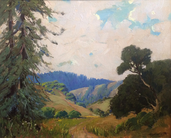 "GEORGE DEMONT OTIS - ""CALIFORNIA REDWOODS"" - Oil - 24"" x 30"""
