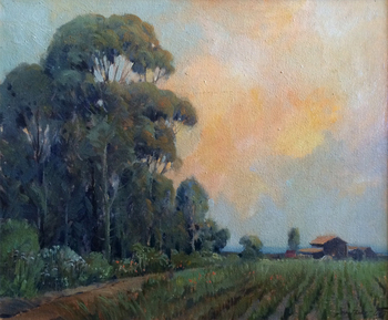 "GEORGE DEMONT OTIS - ""Evening"" - Oil on Canvas - 20"" x 24"""