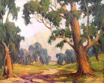 "GEORGE DEMONT OTIS - ""Path Through The Eucalyptus Grove"" - Oil on Canvas - 22"" x 27"""