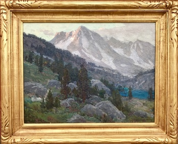 "EDGAR ALWIN PAYNE - Passing Storm, Sierras - Oil on Canvas - 22"" x 27"""