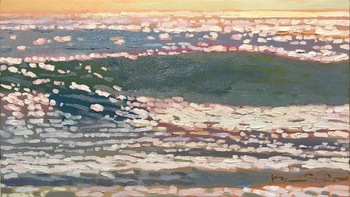 "Kevin Short - ""Evening Glare"" - Oil - 11"" x 20"""