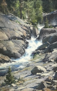"MATT SMITH - ""Wilderness Falls"" - Oil - 22"" x 14"""