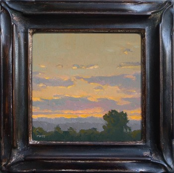 "Jennifer Moses - ""A Little Sunrise"" - Oil - 6"" x 6"""