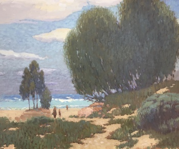 "RAY CARPENTER - ""Beach On The Central Coast"" - Oil - 36"" x 36"""
