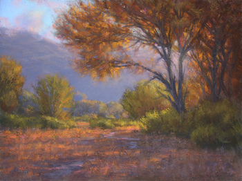 "JOE MANCUSO - ""Autumn Morning, Owens Valley"" - Pastel - 18"" x 24"""