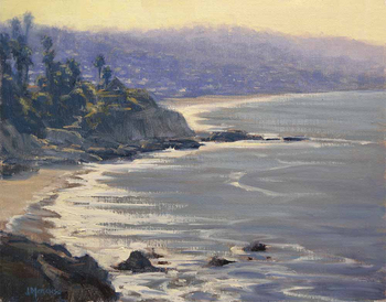 "JOE MANCUSO - ""Morning View, Heisler Park"" - Oil - 11"" x 14"""
