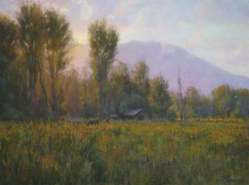 "JOE MANCUSO - ""Summer Evening In Bishop"" - Pastel - 18"" x 24"""
