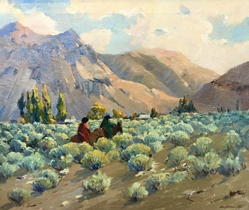 "GEORGE DEMONT OTIS - ""Homeward Bound"" - Oil - 20"" x 24"""