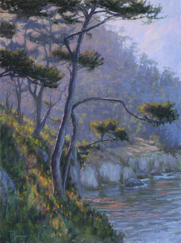"JOE MANCUSO - ""Point Lobos"" - Pastel - 24"" x 18"""