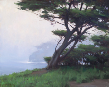 "JESSE POWELL - ""Misty Morning"" - Oil - 24"" x 30"""