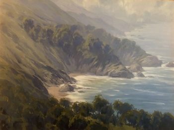 "JESSE POWELL - ""Big Sur Coastline"" - Oil - 30"" x 40"""